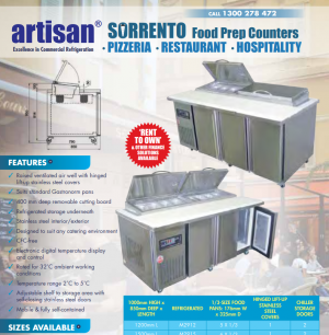 Food Preparation Fridges for Catering & commercial Kitchens