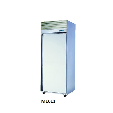 White Stainless Steel 1 Door Fridge