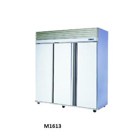 White Stainless Steel 3 Doors Fridge