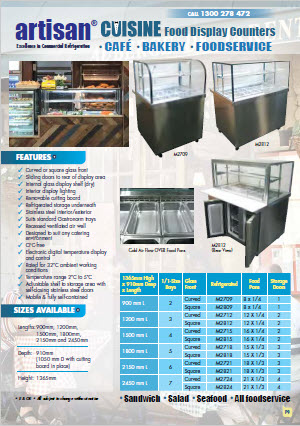 Food Displays for Hot, Ambient and Cold food