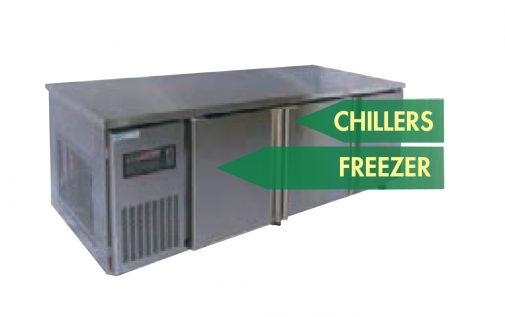 2421 chiller-freezer-combo counter chiller