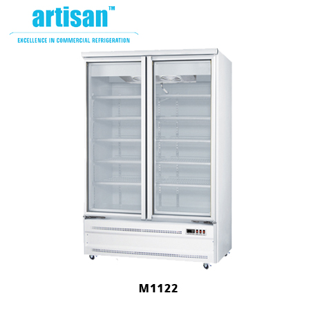 Glass Door Chillers Base Mounted Works Refrigerated Food Display