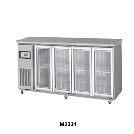 M2224 Under Bench Fridges with 4 Glass Doors for Sale