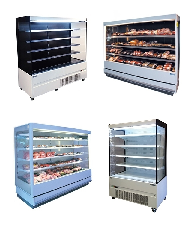 Dairy & Meat Open Front Upright Chiller