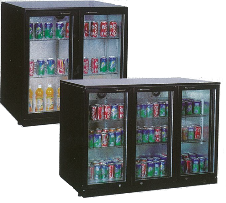M2265 3 Door Bar Fridges Monaco Back Bar Slim-Line Display Chillers