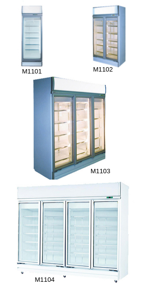 Commercial Display Fridges – Top Mounted Glass Door Fridge