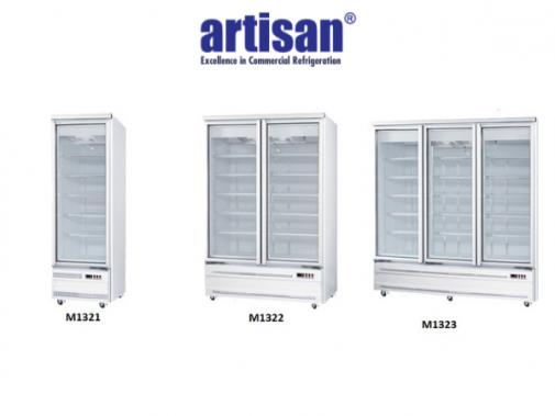 Base Mounted Glass Door Display Freezers for Sale Australia M1321 M322 M1333