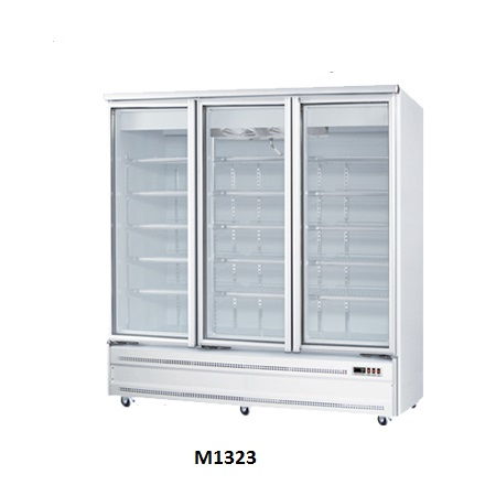 Three Doors Glass Display Freezers for Sale Australia Base Mounted M1323