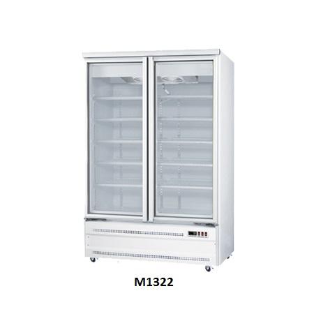 Two Doors Glass Display Freezers for Sale Australia Base Mounted M1322